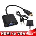 Adaptador hdmi para vga + cabo de áudio do sexo masculino para feminino embutido chipset 1080 p conversor de vídeo para xbox 360 ps3 media box tv jogador