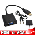 HDMI to VGA Adapter + Audio Cable Male To Female Built-in Chipset 1080p Video Converter For Xbox 360 PS3 TV Box Media Player