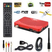 Tamaño Mini Digital 1080 P Receptor de Satélite DVB-S2 FTA IKS TV BOX EPG Cccam Internet Potencia de Grabación PVR Vu + 5370 USB Wifi