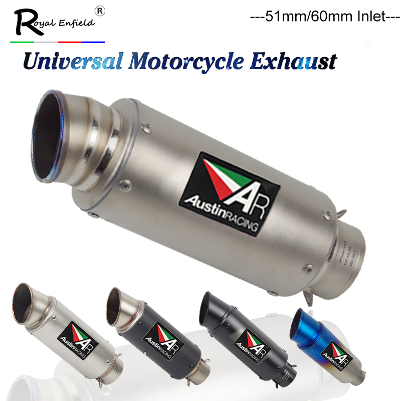 🛒 Laser 60mm GP70 R MUFFLER Motorcycle Exhaust Carbon Fiber