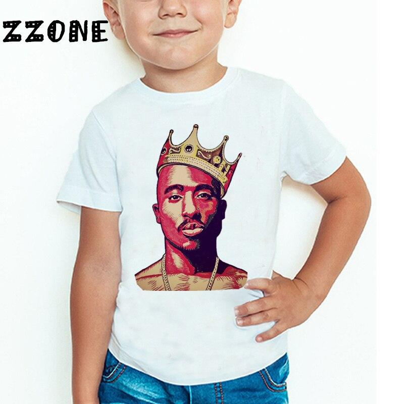 Uşaqlar Tupac 2pac Hip Hop Qaldırma Printli T-shirt Uşaq Körpə - Uşaq geyimləri - Fotoqrafiya 4