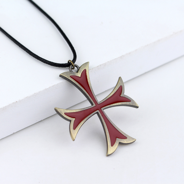 Assassins creed unity arno dorians templar cross pendant necklace assassins creed unity arno dorians templar cross pendant necklace collier pouch amulet necklace aloadofball Image collections