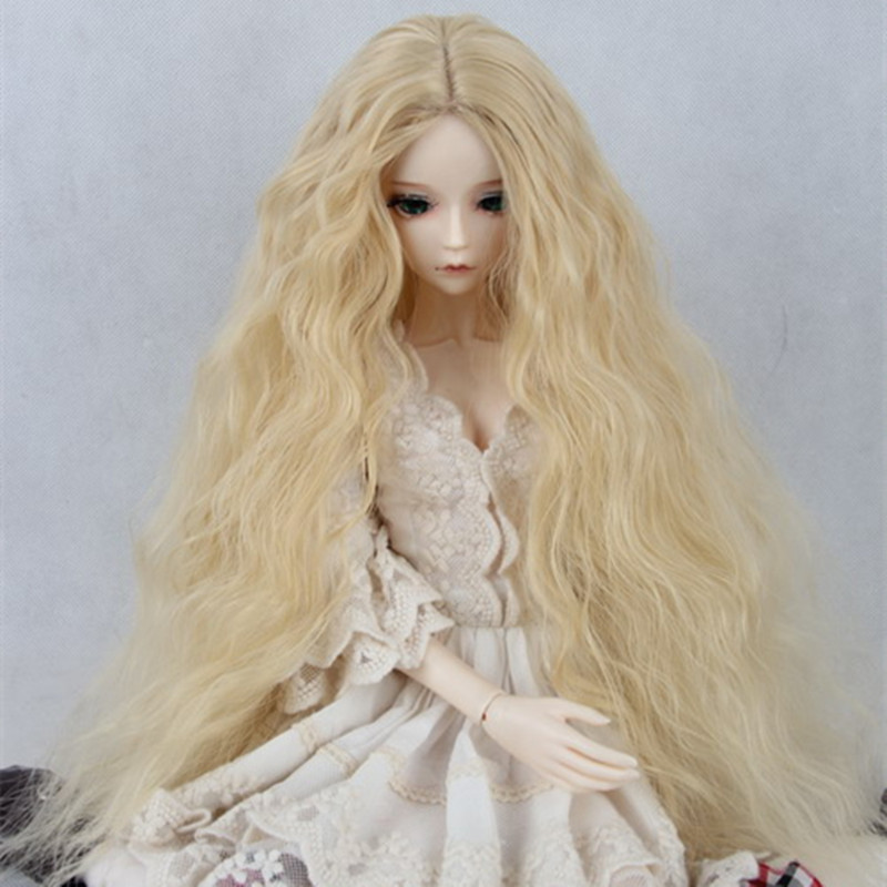 BJD / SD Doll Wigs Vampire / minifee Chloe Male / Female Dolls Gold Long Curly 1/3/1 / 1/6 Immediately shipped 1 8 1 6 1 4 1 3 uncle bjd sd dd doll accessories wigs gold long straight hair