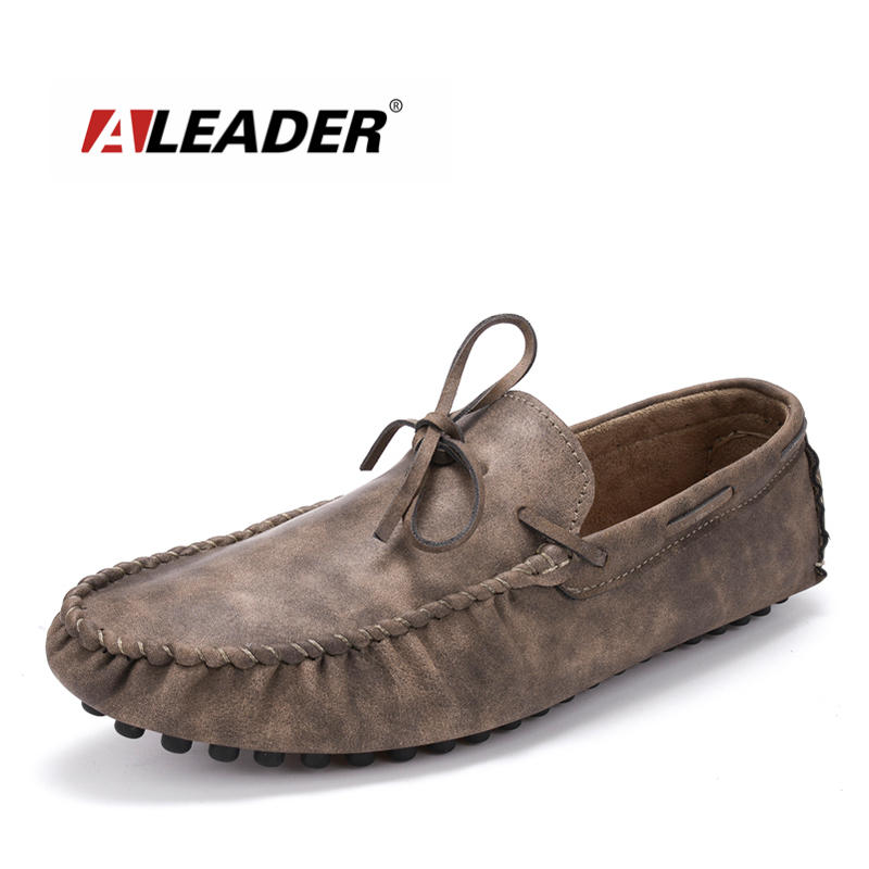 ALEADER 5 colors Mens Suede Loafers Slip On Casual Shoes Men Penny Loafers Driving moccasins for Men Black Luxury Leather Oxford black and bule suede red bottom luxury mens loafers new france brand slip on spikes shoes