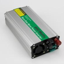 MAYLAR@ 1pc 600W Car Power Inverter Converter DC 12V to AC 110V or 220V Pure Sine Wave Peak 100W Power Solar inverters