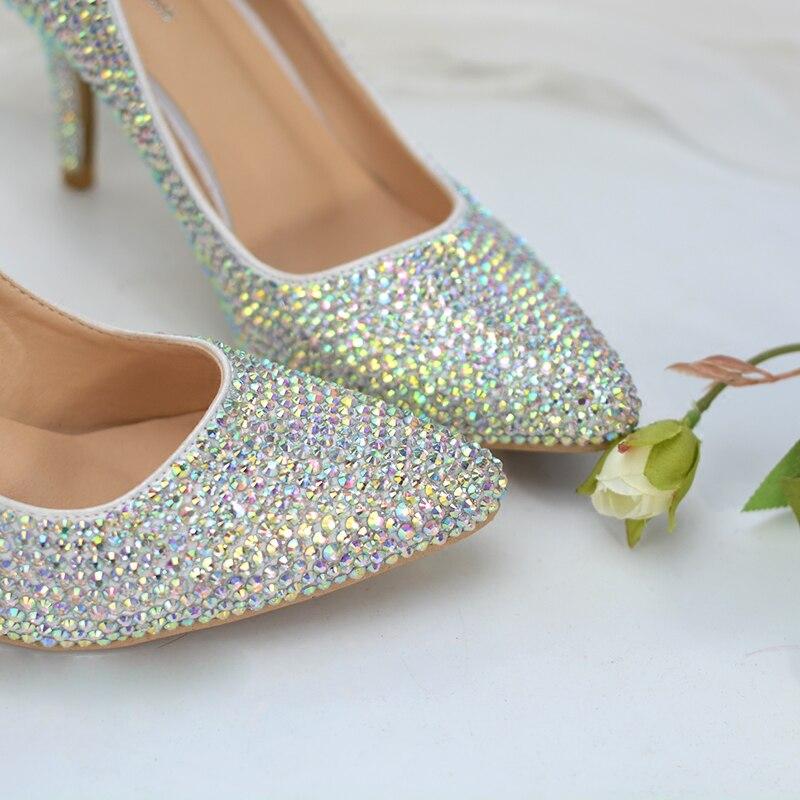 Mariage Cm Grande Cristal Pompes Luxe Tv Banquet 46 Bout De Taille Chaussures Strass 8 Scintillant Femme En Show Pointu Programme Talons zSxBR7qn