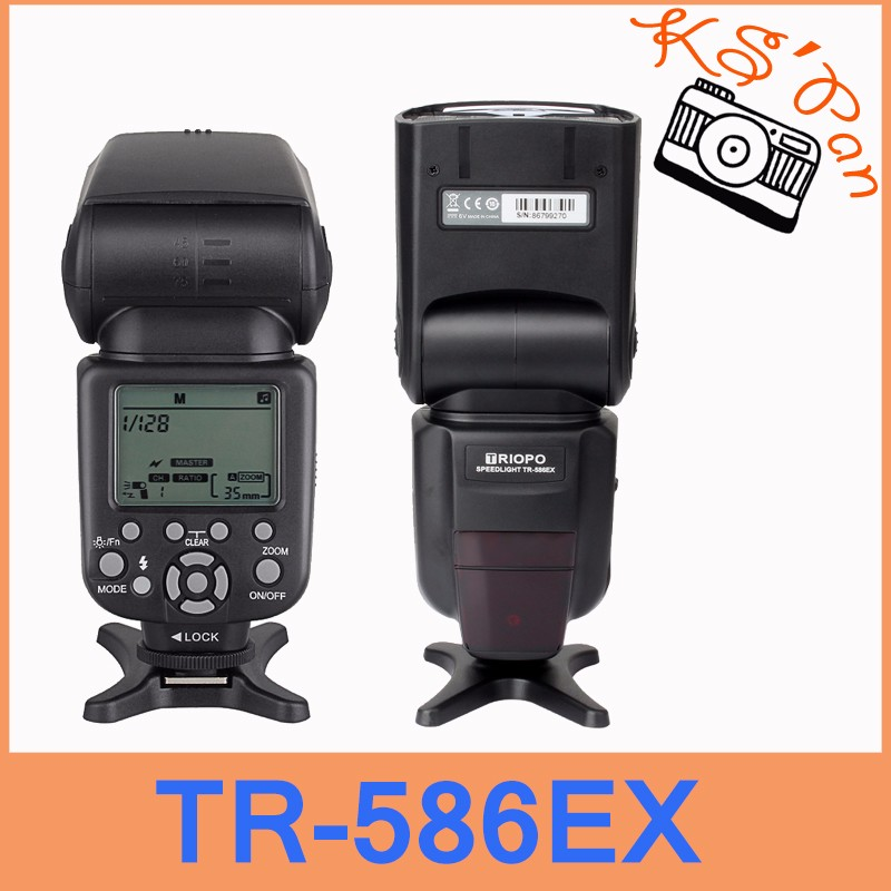 Triopo TR-586EX Wireless Flash Mode TTL Flash Speedlite For Canon EOS 550D 60D 5D Mark II as YONGNUO YN-568EX II triopo wireless ttl flash speedlite speedlight tr 586ex c for canon eos 5d mark ii 6d 1200d dslr camera as yongnuo yn 568ex ii