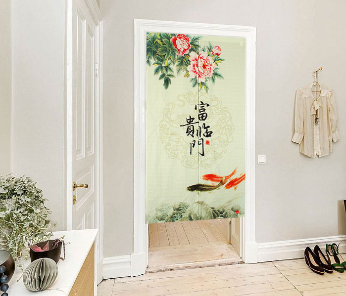 Kitchen Partition Curtains: Send Rod (rich Rimmon Fabric Curtains Hanging Curtain