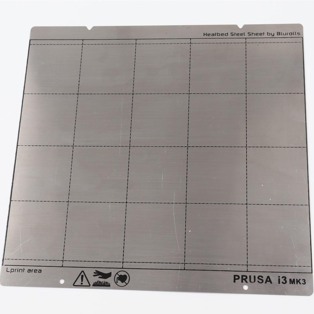 Reprap i3 Mk3 Mk52 Printemps En Acier Feuille de Chaleur Lit Plate-Forme 3D Imprimante Impression Buildplate