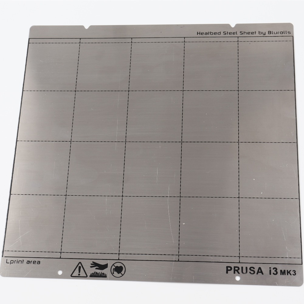 Reprap I3 Mk3 Mk52 Spring Steel Sheet Heat Bed Platform 3D Printer Printing Buildplate
