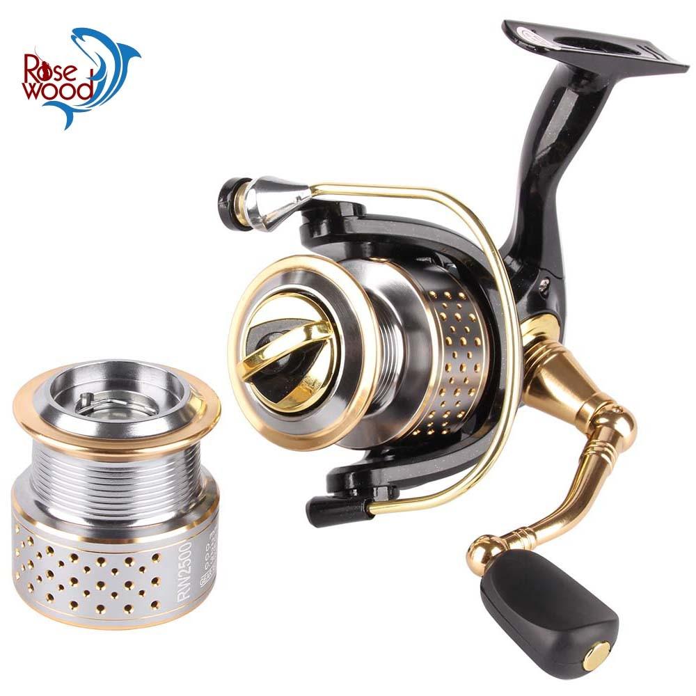 RoseWood Spinning Fishing Reel Spare Spool 1000 2500 Series 8+1 Bearing Balls 5.2:1 Professional Wheels Fishing Tackle