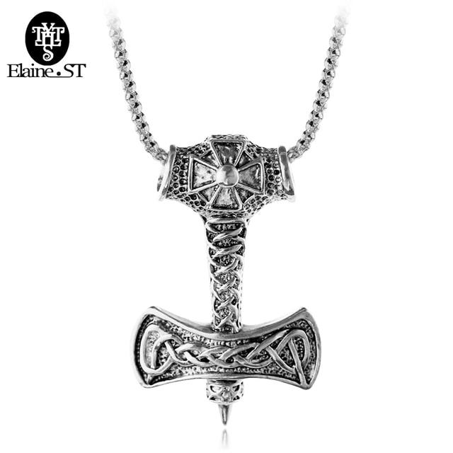 f7afc76af304 2017 Símbolo de Vikingo Pirata Vikings Collares Cruz Colgante Collares de  La Vendimia Para Los Hombres