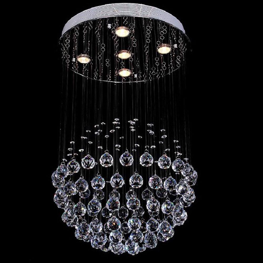 D50*H80cm Modern crystal chandeliers kitchen lighting bedroom living room hallway staircase entrance home hanging chandelier