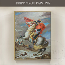 Hand-painted Famous France Hero Napoleon Oil Painting on Canvas Reproduction Portrait for Office Decor
