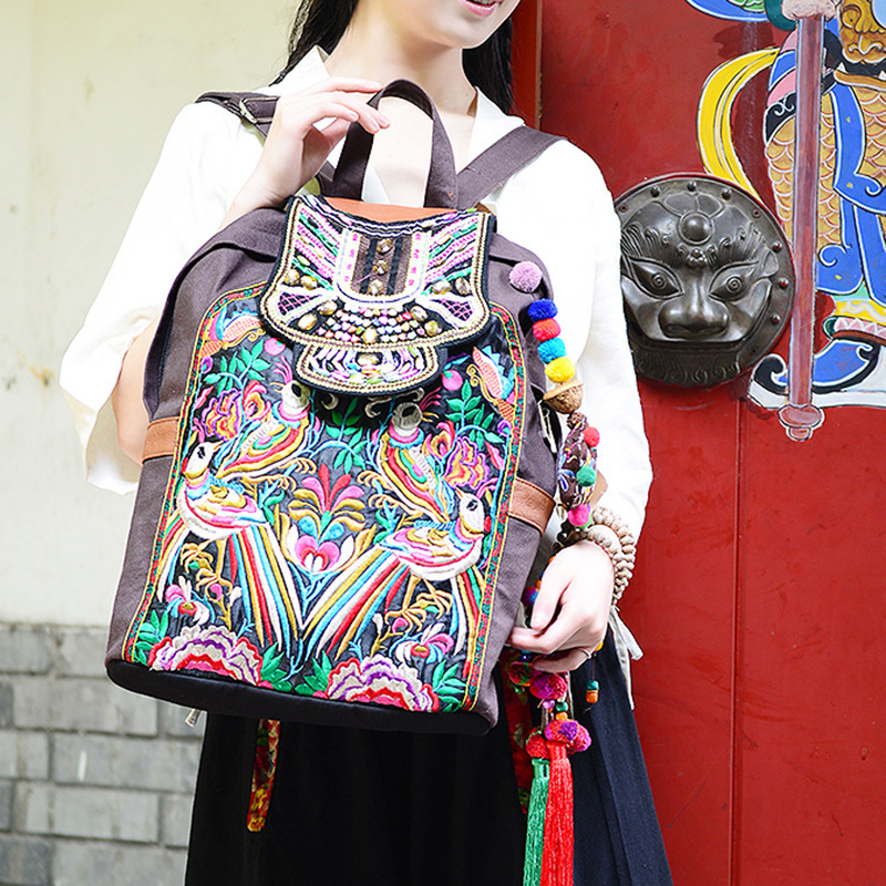 ON SALES Bohemia handmade beaded women backpack embroidery ethnic backpack vintage  travel backpack ON SALES Bohemia handmade beaded women backpack embroidery ethnic backpack vintage  travel backpack