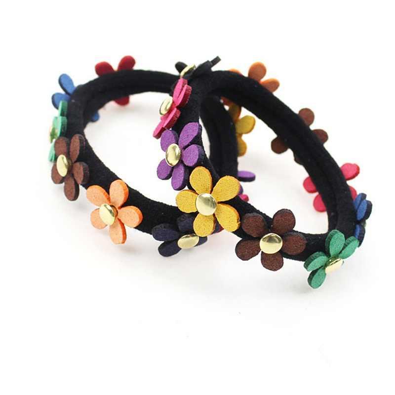 1PCSดอกไม้สีสันอุปกรณ์เสริมสำหรับผมผู้หญิงแถบคาดศีรษะยืดหยุ่นสำหรับผมสำหรับผม,ผมเครื่องประดับเด็ก