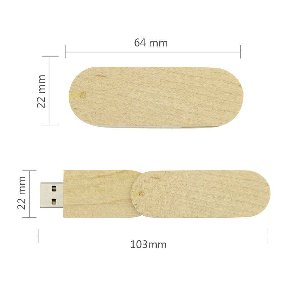 CHYI Personality Wooden Rotatable Pendrive 64GB USB 3.0 Flash Drive Cool Pen Driver 8GB 16GB 32GB Wood Memory USB Stick For Gift
