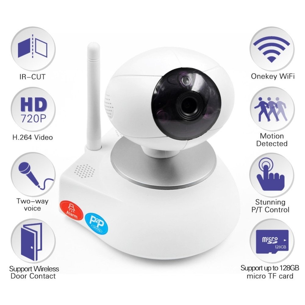 HD 720P Video Baby Monitor Wireless WiFi IR Video Talk Intercom Camera With Night Vision Pan/Tilt Baba Electronic new wireless remote control baby monitor with night vision intercom voice wifi network ip camera electronic for smart phone