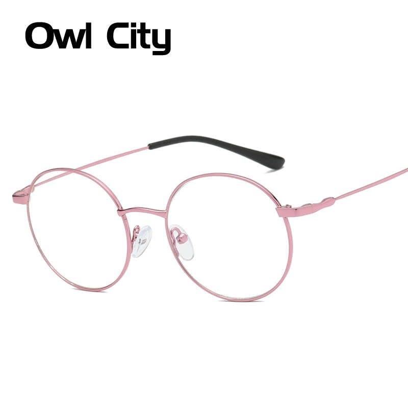 9eff6ffd80 Gafas redondas de Metal para mujeres y hombres, monturas de gafas ópticas,  montura de
