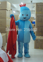 cosplay costume Iggle piggle Garden baby Mascot costume Adult Garden baby Mascot costume with Free shipping