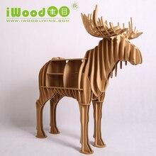 Европейский Nordic художественный домой ремесло украшения моделирование лось олень лось деревянные творческие украшения дома декор бесплатная доставка
