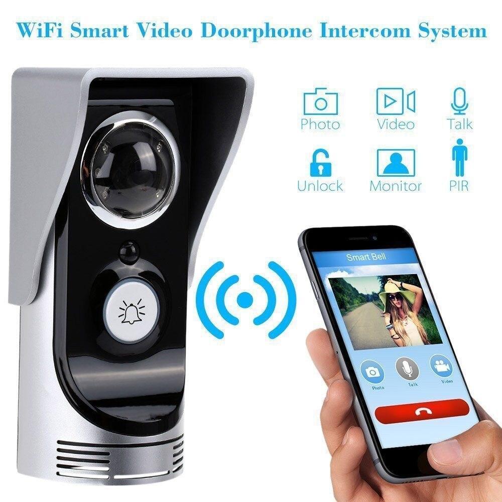 Danmini Smart WIFI Doorphone 3M 145 Degree Wide Angle Wireless Video Intercom Doorbell Night Vision Phone Remote Control