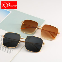 5df82b6dc3 RBROVO 2018 Flat Mirror Sunglasses Women Round Face Square Ladied Sun  Glasses Vintage
