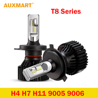Auxmart 50w Pair Hi Low Beam H4 LED Headlight Bulb 8000lm HB2 9003 LED Front Head
