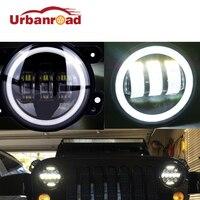 4 Inch Ronde Led Mistlamp Koplamp 30 W Projector lens Met Halo DRL Lamp Voor Offroad Jeep Wrangler Jk Dodge Harley Daymaker