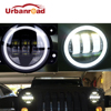 4 Inch Round Led Fog Light Headlight 30W Projector Lens With Halo DRL Lamp For Offroad