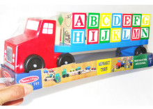 New wooden toy Wooden letter building block car carrying baby Free shipping