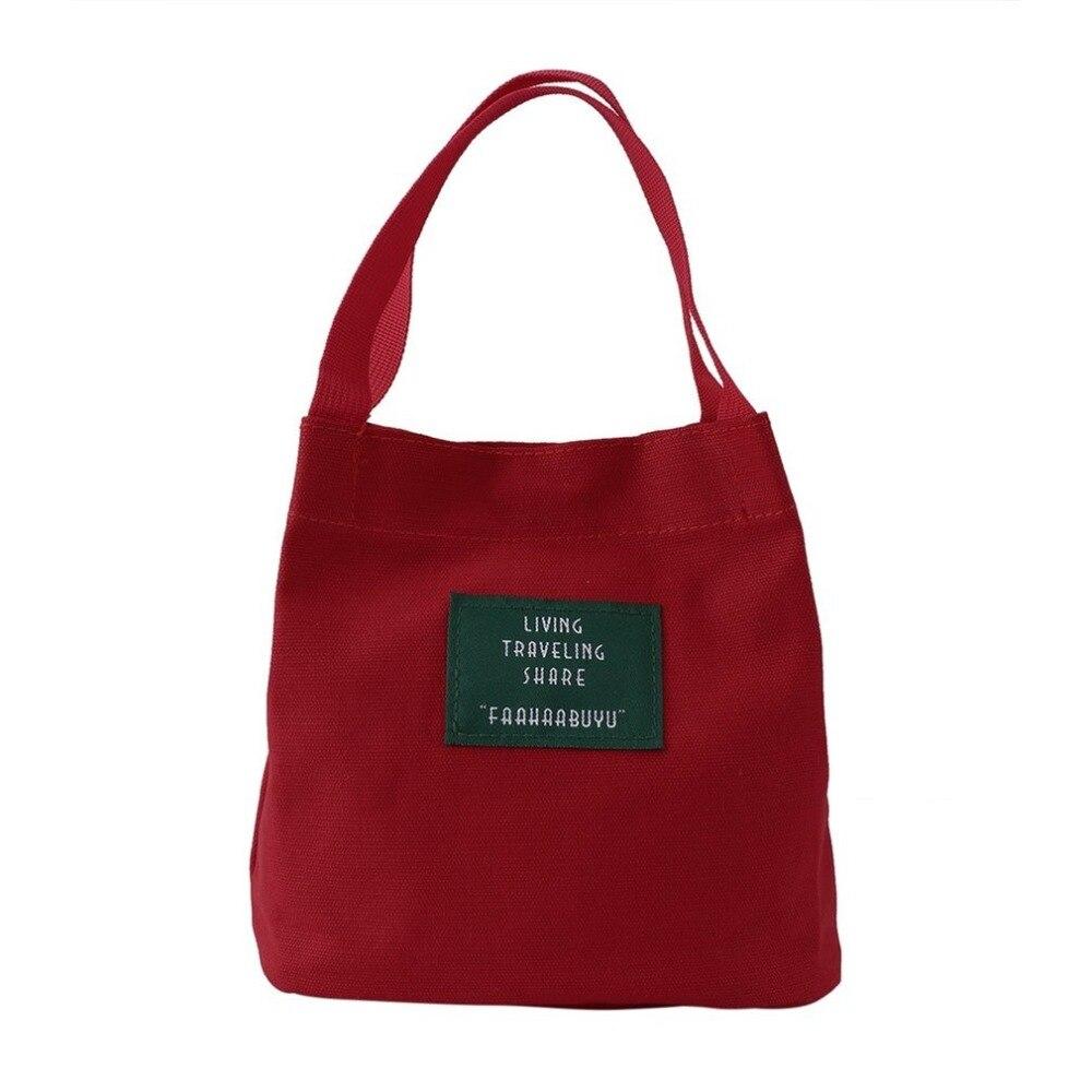 Canvas Handbags Ladies Mini Single Shoulder Bag Portable Bucket Bag Solid Crossbody Messenger Bags