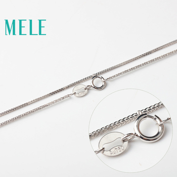 MELE real 18K gold Chopin chain for jewelry pendant,1mm yellow gold rose gold and platinum vegetarian necklace for accessories 3