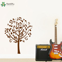 YOYOYU Vinyl Wall Decal Notes composition Music Tree Plant  Simple Art Home Room Mirror Decoration Sticker FD058 все цены