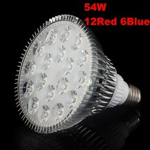 Hot sale Full Spectrum 54W Led Grow Light E27 Led Grow Lamp for flowering Hydroponics System Grow Box Led Plant Grow Light Lamp