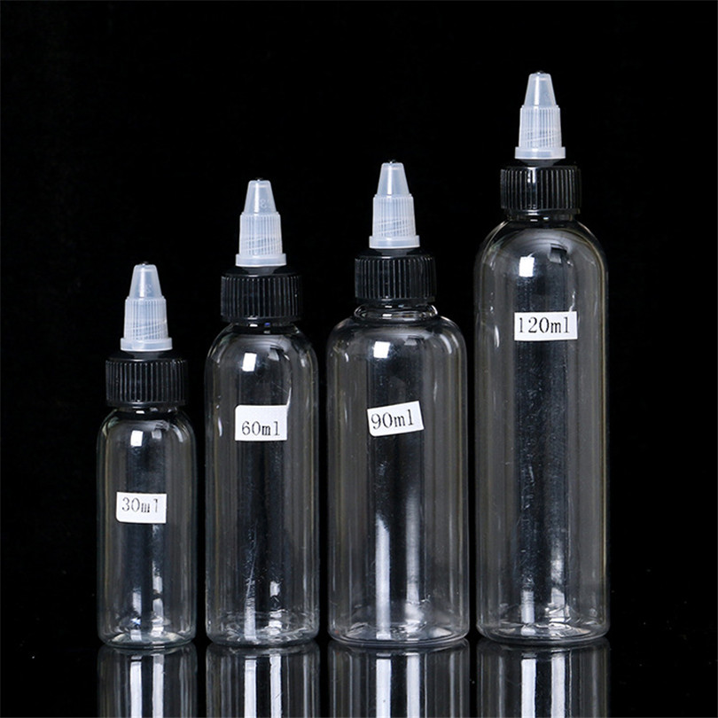 Tattoo Supplies Clear Plastic Empty Tattoo Ink Pigment Bottles For Lotion Shampoo Tattoo Ink Pigment 30ml 60ml 90ml 120ml image