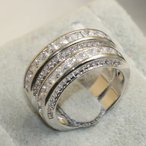 Image 5 - choucong Wieck Princess Cut Brand Jewelry 925 Sterling Silver White Clear 5A CZ stones Wedding Bridal Women Rings Gift Size 5 11