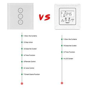 Image 4 - Tuya interruptor de cortina inteligente, interruptor de cortina inteligente para wifi smart life, para obturador de cortina motorizado elétrico, funciona com alexa e google home