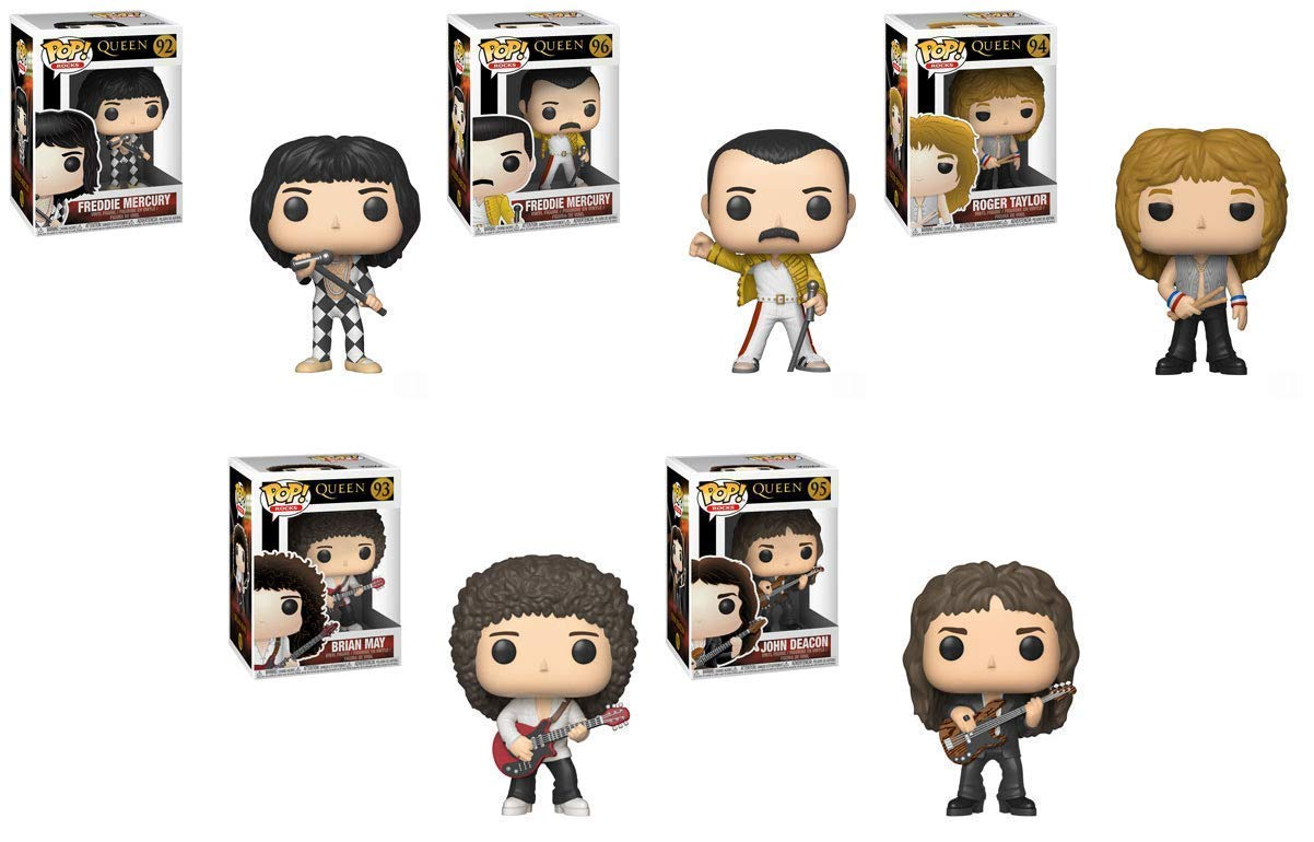 Official Funko Pop Queen - Roger Taylor, Brian May, John Deacon, Freddie Mercury Vinyl Action Figure Collectible Model Toy