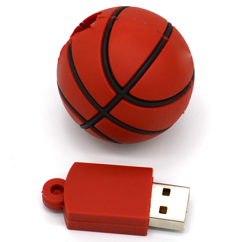 4GB 8GB 16GB 32GB USB Flash Drive Silicone basketball USB 3.0 Flash Memory Pen Drive Unique USB flash Drive U Disk Pendrives 10