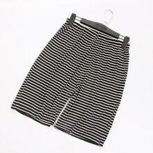 Summer thin striped male sleep shorts large size loose casual modal home sleepwear lounge