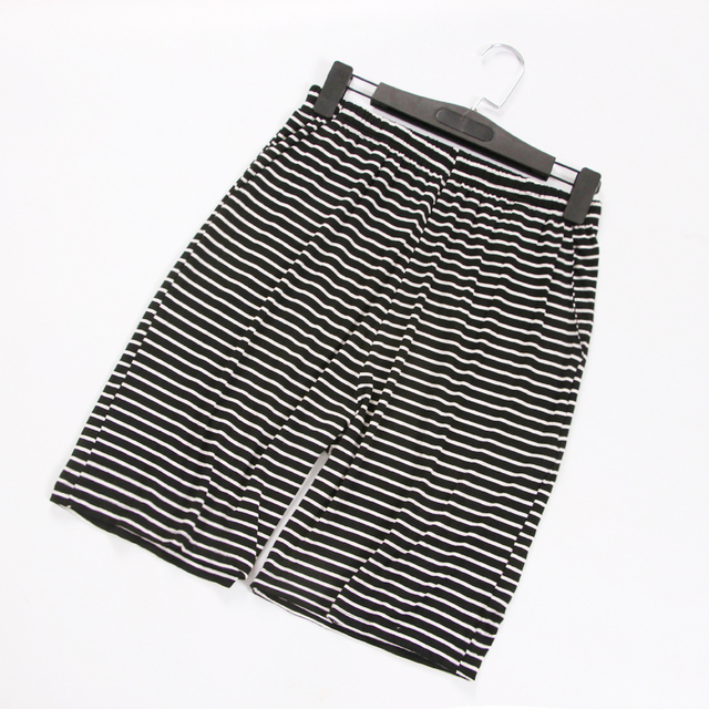 Summer thin striped male sleep shorts large size loose casual modal home sleepwear lounge