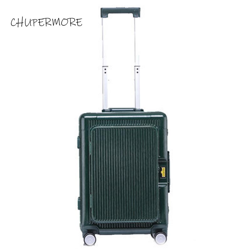 100% all aluminum frame Flip top computer bag essential for boarding travel Rolling Luggage Spinner High capacity brand Suitcase-in Rolling Luggage from Luggage & Bags    3