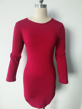 Plus Size Women Clothing Long Sleeve Mini Bodycon Tunic Slim Side Split  Bandage Dresses