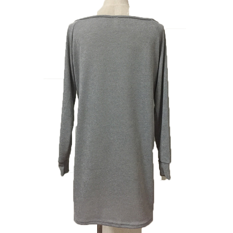 APOENGE dresses Store APOENGE 2017 autumn t shirt dress bodycon long sleeves loose casual dress sexy women clothing cotton tshirt mini dresses LZ108