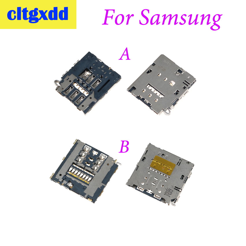 cltgxdd Sim card reader slot tray holder connector socket For Samsung Galaxy E7 E7009 E7000 e700 E5 E5000 E5009 E700(China)