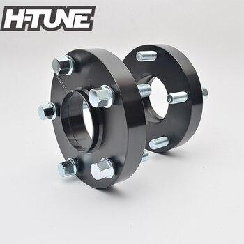 H-TUNE para kute aluminium czarny 25mm 5x130 71.6CB piasta Centric dystansowe dystanse koła 14*1.5 szpilki