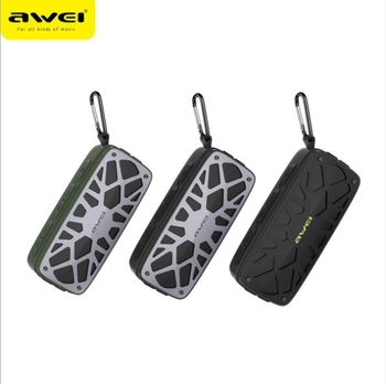 AWEI Y330 Portable Outdoor Wireless Bluetooth Speaker Real Wireless Stereo Card Inserting Dual Units Speaker Bass Subwoofer