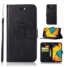For Cover Samsung Galaxy A30 Case Dreamcatcher Leather Wallet Flip for Phone