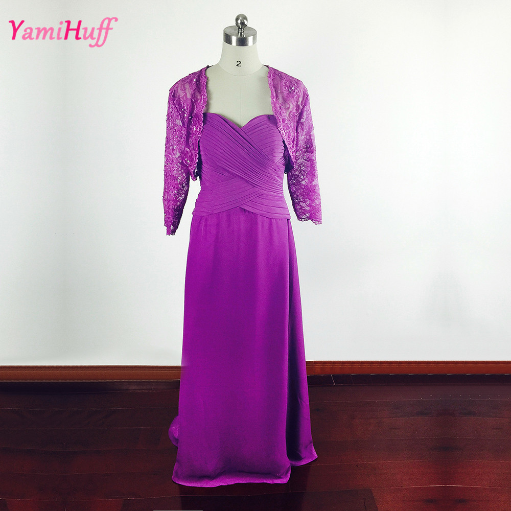 Purple long mother of the bride lace dresses pant suits for Dress pant suits for weddings plus size